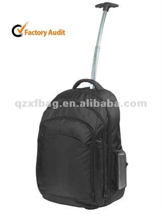 Manufactory XFLP-0014 black durable trolley laptop bag