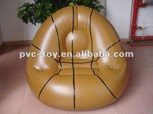 basketball egg shape inflatable single sofa chair