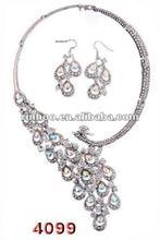 New ! Silver Phoenix Rhinestone Alloy Wedding/Bridal Jewelry Set