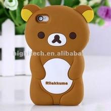 Rilakkuma Bear 3D Movable Flip Hard Case Skin Cover for iPhone 4 4S