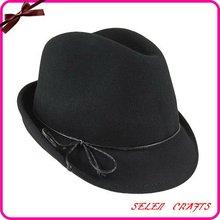 2012 New Design Ladies Wool Fedora Hat