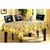 Laminated Flower Printed PVC UV Tarpaulin for Table Cloth