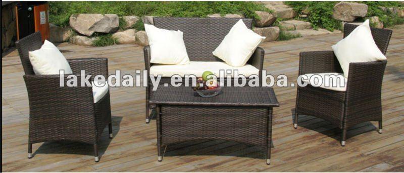 mesa jardim concreto : mesa jardim concreto:Outdoor mesa de concreto do rattan do sofá do jardim conjunto rs-0092