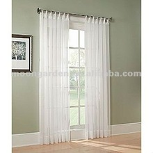 Ready made voile curtain embossed fabric