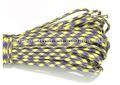 Supervivencia al aire de 550 paracord ( púrpura amarillo )