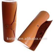 Column PU leather Wine holder
