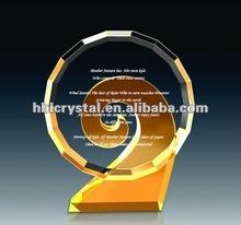 new design crystal trophy award