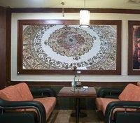 iran rug 8X8 foot handmade silk