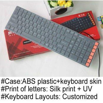 Mini chocolate multimedia keyboard black and white
