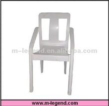 Modern leisure PP stackable plastic chair