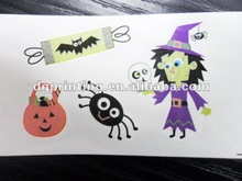 Halloween tattoo sticker/kids temporary tattoos