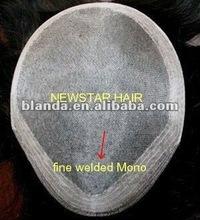 Fine Welded Mono Lace Male Toupee