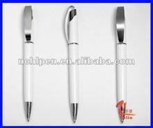 hot plastic pen with silver clip,pen manufacturer