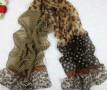 2012 New fashion polyester dark scarf, lady chiffon scarf