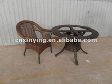 2012 New design hot selling PE rattan patio/garden dining set (1+6)