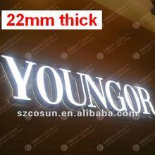 22mm thick super thin super bright Letter