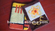 HJ endurable and affordable hand flocking residential antislip rug