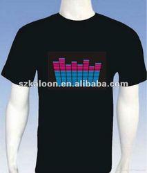 Music Activated EL Equalizer LED T-Shirt 3D