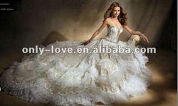 2012 new styles strapless sweetheart long trail bridal wedding dress OLH121