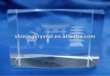 new arrival 3d crystal maple leaf and elk of canada