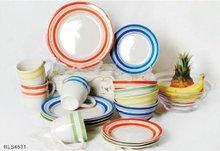 Handpainted stoneware dinner set