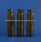 10ml amber tubular glass vial