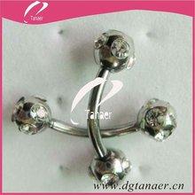Hot sale body jewelry diamond eyebrow