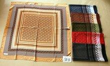 2012 new fashion satin square arabic scarf, head scarf