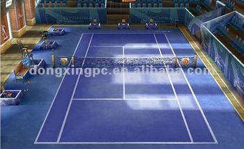 pvc sport flooring for tennis ball