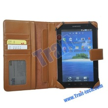 7 Inch Tablet PC/Pad Leather Case for Samsung MID with Card Slots (Brown)