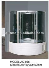 ABS tub shower cabin polished aluminium