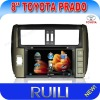 2 din 8&#39;&#39; in dash car dvd player speical for Toyota New Prado with high resolution digital touch screen,gps,bluetooth,radio,ipod