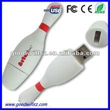 Custom Logo Bowling Pin USB Stick 2.0