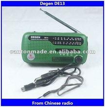 Degen radio DE13 am/fm can shape radio with speaker earphone jack