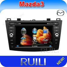 HOT 2 din 8'' HD digital touch screen car radio dvd cd player with GPS for 2012 Mazda 3
