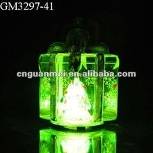 Handmade glass christmas gift ornament/gift with LED changing light