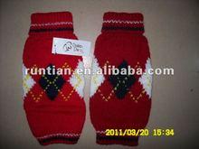 Handmade Jacquard Knit Argyle Dog Sweaters