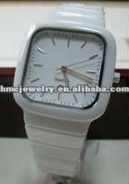 High-Tech Latest Design White Ceramic Watch For Men With Aquare Case