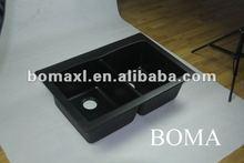 Topmount Black Granite Composite Kitchen Sink