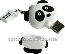 Promotional gift cartoons usb flash drive panda 3D model with logo printing 2gb 4gb 8gb