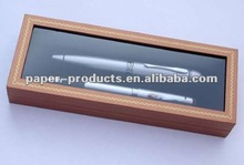 2012 hot product custom brown paper or cardboard jewelry boxes with window