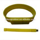 green silicon bracelet / wristband USB memory sticks