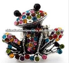 2012 Fashion Animal Colorful Sitting Frog Rings