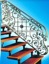 2012 china Custom ornamental iron stairway railings design factory
