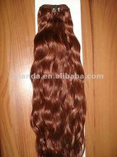 brazilian orange colour hair weft fashion style