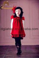 New fashion warm korean woolen short sleeve baby dress