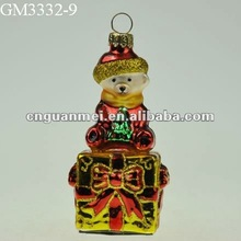 2012 European quality glass delicate christmas beer decoration