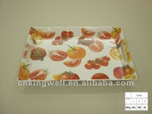 Melamine custom printed serving tray with handle
