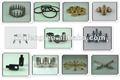 Componentes trabajados a máquina CNC del metal