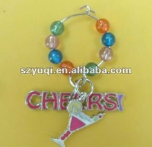 Wine glass charm for party accessory